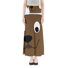 Chocolate Labrador Cartoon Maxi Skirts