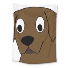 Chocolate Labrador Cartoon Medium Tapestry