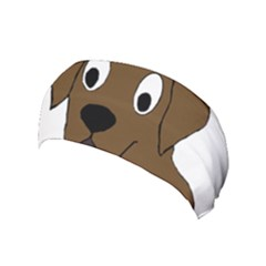Chocolate Labrador Cartoon Yoga Headband