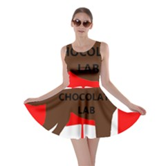 Chocolate Labrador Retriever Name Silo Canadian Flag Skater Dress