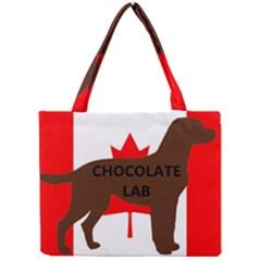 Chocolate Labrador Retriever Name Silo Canadian Flag Mini Tote Bag