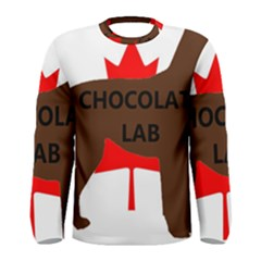 Chocolate Labrador Retriever Name Silo Canadian Flag Men s Long Sleeve Tee