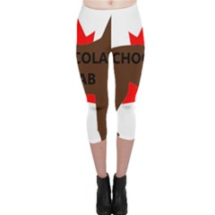Chocolate Labrador Retriever Name Silo Canadian Flag Capri Leggings
