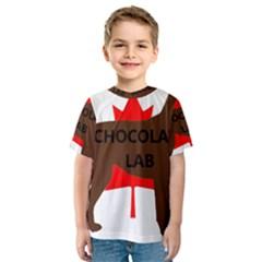 Chocolate Labrador Retriever Name Silo Canadian Flag Kids  Sport Mesh Tee