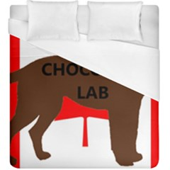Chocolate Labrador Retriever Name Silo Canadian Flag Duvet Cover (King Size)