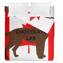 Chocolate Labrador Retriever Name Silo Canadian Flag Duvet Cover Double Side (Queen Size)