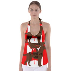 Chocolate Labrador Retriever Name Silo Canadian Flag Babydoll Tankini Top