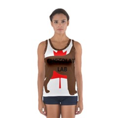 Chocolate Labrador Retriever Name Silo Canadian Flag Women s Sport Tank Top