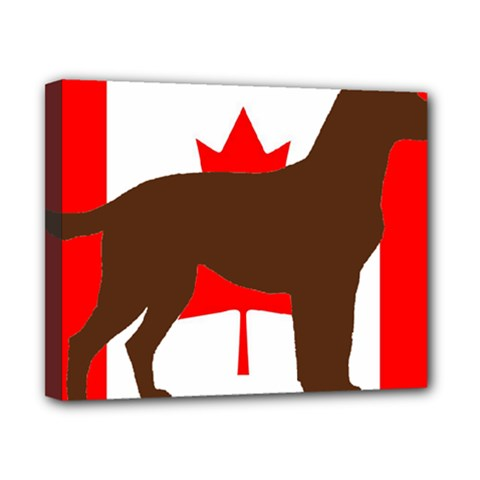 Chocolate Labrador Retriever Silo Canadian Flag Canvas 10  x 8