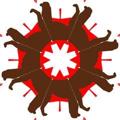 Chocolate Labrador Retriever Silo Canadian Flag Folding Umbrellas