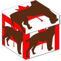Chocolate Labrador Retriever Silo Canadian Flag Storage Stool 12