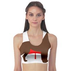 Chocolate Labrador Retriever Silo Canadian Flag Sports Bra