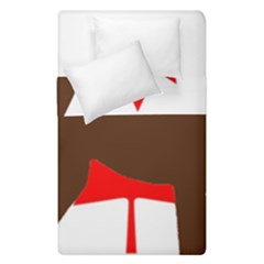 Chocolate Labrador Retriever Silo Canadian Flag Duvet Cover Double Side (Single Size)
