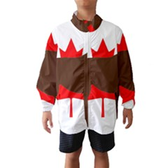 Chocolate Labrador Retriever Silo Canadian Flag Wind Breaker (Kids)