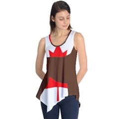 Chocolate Labrador Retriever Silo Canadian Flag Sleeveless Tunic