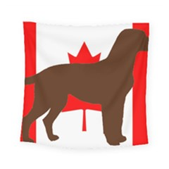 Chocolate Labrador Retriever Silo Canadian Flag Square Tapestry (Small)