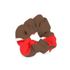 Chocolate Labrador Retriever Silo Canadian Flag Velvet Scrunchie