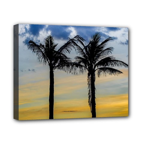 Palm Trees Against Sunset Sky Canvas 10  x 8