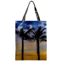 Palm Trees Against Sunset Sky Zipper Classic Tote Bag