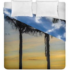Palm Trees Against Sunset Sky Duvet Cover Double Side (King Size)