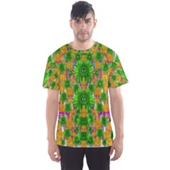 Jungle Love In Fantasy Landscape Of Freedom Peace Men s Sport Mesh Tee
