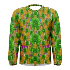 Jungle Love In Fantasy Landscape Of Freedom Peace Men s Long Sleeve Tee