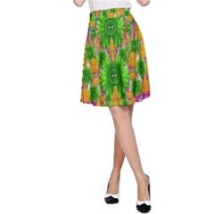 Jungle Love In Fantasy Landscape Of Freedom Peace A-Line Skirt