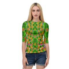 Jungle Love In Fantasy Landscape Of Freedom Peace Quarter Sleeve Tee