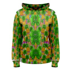 Jungle Love In Fantasy Landscape Of Freedom Peace Women s Pullover Hoodie