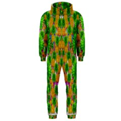 Jungle Love In Fantasy Landscape Of Freedom Peace Hooded Jumpsuit (Men)
