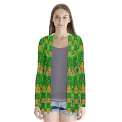 Jungle Love In Fantasy Landscape Of Freedom Peace Cardigans