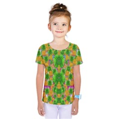 Jungle Love In Fantasy Landscape Of Freedom Peace Kids  One Piece Tee