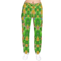 Jungle Love In Fantasy Landscape Of Freedom Peace Drawstring Pants