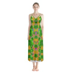 Jungle Love In Fantasy Landscape Of Freedom Peace Chiffon Maxi Dress