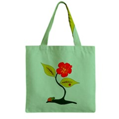 Plant And Flower Grocery Tote Bag