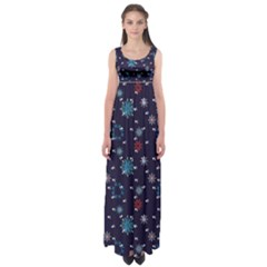 Snow Pattern 170505 Empire Waist Maxi Dress