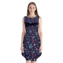 Snow Pattern 170505 Sleeveless Chiffon Dress
