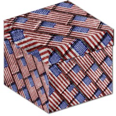 Usa Flag Grunge Pattern Storage Stool 12