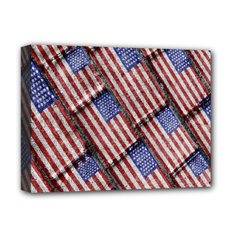 Usa Flag Grunge Pattern Deluxe Canvas 16  x 12