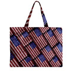 Usa Flag Grunge Pattern Mini Tote Bag