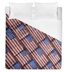 Usa Flag Grunge Pattern Duvet Cover (Queen Size)