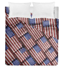 Usa Flag Grunge Pattern Duvet Cover Double Side (Queen Size)