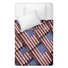 Usa Flag Grunge Pattern Duvet Cover Double Side (Single Size)