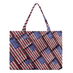 Usa Flag Grunge Pattern Medium Tote Bag