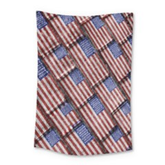 Usa Flag Grunge Pattern Small Tapestry