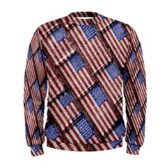 Usa Flag Grunge Pattern Men s Sweatshirt