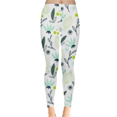 Hand drawm seamless floral pattern Leggings