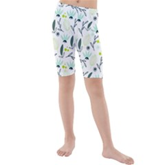 Hand drawm seamless floral pattern Kids  Mid Length Swim Shorts