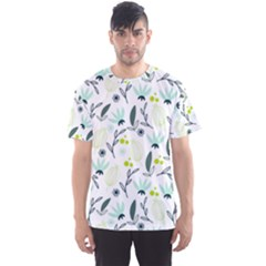 Hand drawm seamless floral pattern Men s Sport Mesh Tee