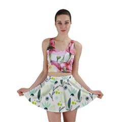 Hand drawm seamless floral pattern Mini Skirt